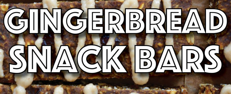 Gingerbread Snack Bars (Vegan, Gluten Free, Cannabis Infused)