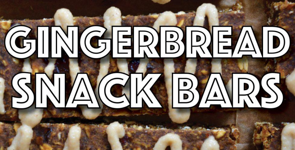 Gingerbread Snack Bars (Vegan, Gluten Free, Cannabis Infused)