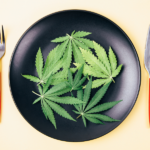cannabis on plate