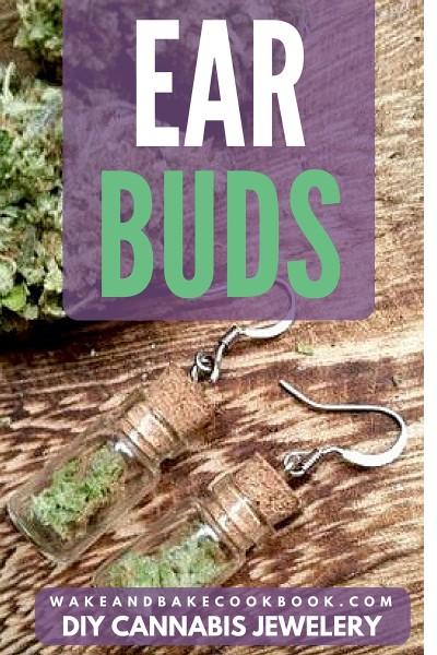 cannabis jewelry diy ear buds